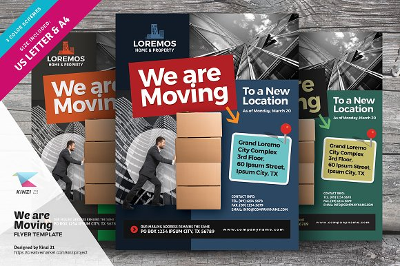 we are moving flyer vol 01 flyer templates creative market