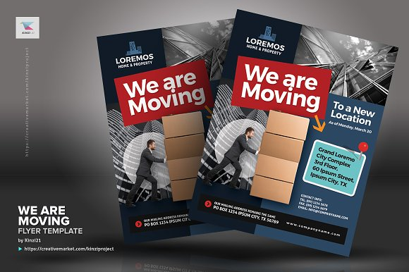 We Are Moving Flyer Vol01 Flyer Templates Creative Market