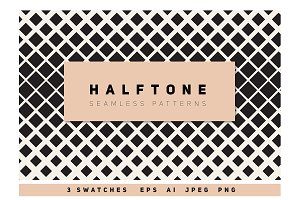 Halftone Seamless Pattens