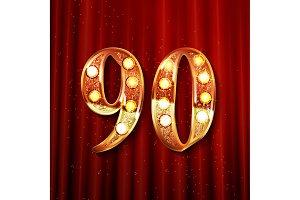 90 years gold anniversary