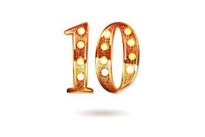 10th golden anniversary logo