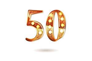 50 years gold anniversary
