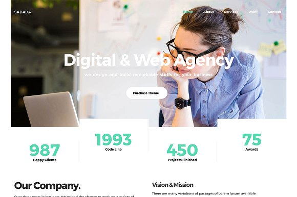 Sababa Multipurpose HTML Template
