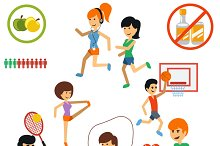 Icon set for active lifestyle