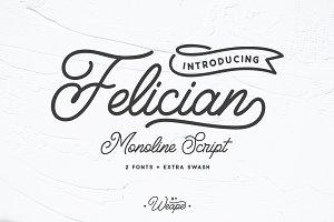 Felician Monoline Script