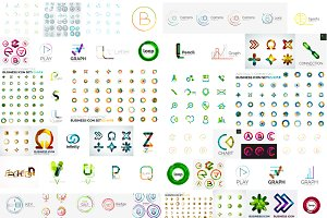 Big vector logo collection