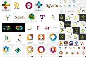Big set of business logos