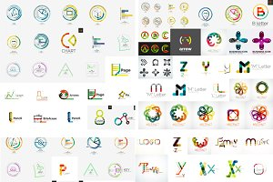 Set of modern vector logos