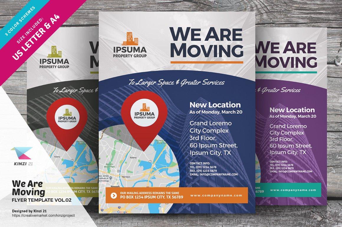 we are moving flyer flyer templates creative market. Black Bedroom Furniture Sets. Home Design Ideas