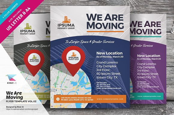 We Are Moving Flyer Vol02 Flyer Templates Creative Market