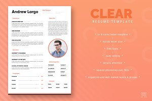 Clear Resume / CV Template