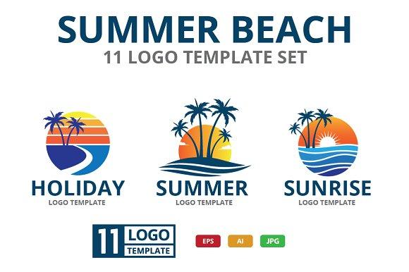 SUMMER BEACH Theme Logo Set