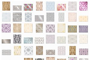 Vector bundle 72 baroque ornaments