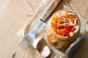Fermented preserved vegetables