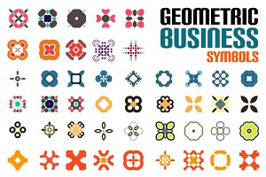 Geometric business symbols set 4