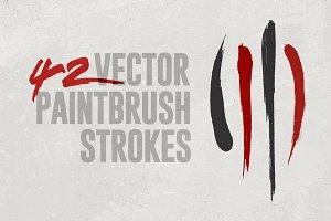 42 Vector Paintbrush Strokes