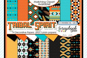 TRIBAL DIGITAL PAPERS, Set 3