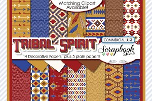 TRIBAL DIGITAL PAPERS, Set 2