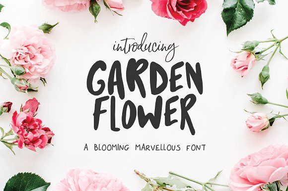 Garden Flower Font