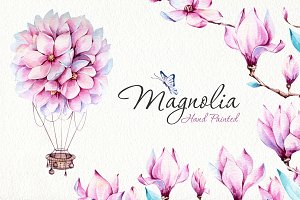 Magnolia Watercolor Set