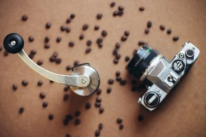 Coffee grinder and film camera