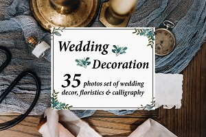 35 PHOTOS SET of WEDDING DECORATION