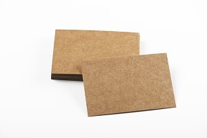 Brown business card on blanoo background. Mockup. Isolated.