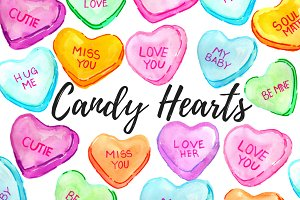 Valentines Candy Hearts Clipart