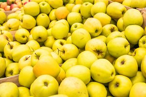 Yellow fresh apples