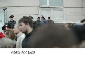 Policemen protest manifestation