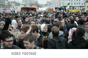 Protest manifestation in Moscow
