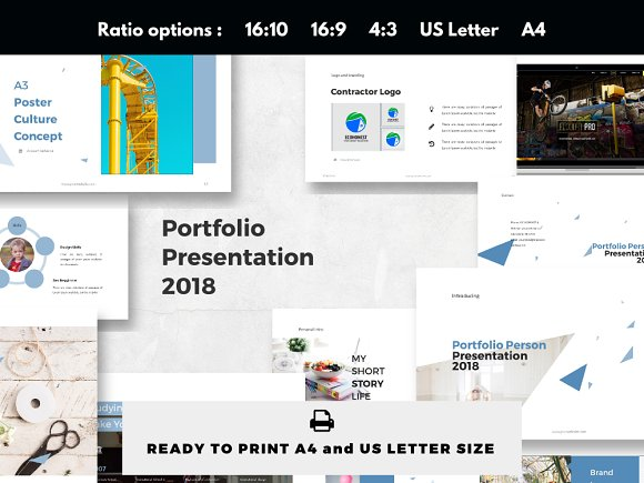 Personal Portfolio Presentation 2018 Templates Creative Market