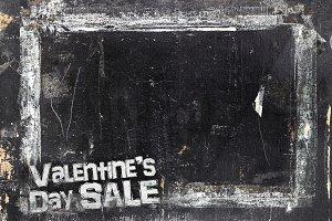 Valentine's Day Sale chalkboard