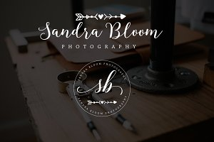 Sandara Bloom Premade Logo