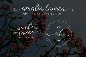 Floral Amalia Lauren Premade Logo