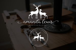 Deer Amalia Lauren Premade Logo