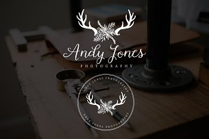 Antler Leaf Andy Jones Premade Logo