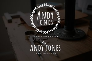 Circle Leaf Andy Jones Premade Logo