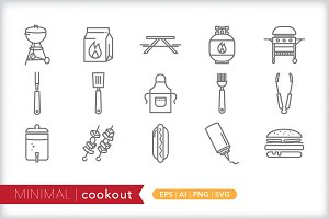 Minimal cookout icons