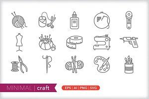 Minimal craft icons