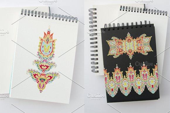 Set of decorative elements, ribbons