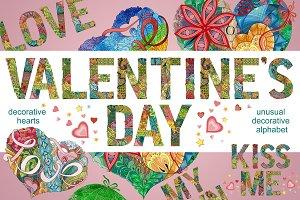 Valentine`s day set