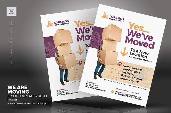 We Are Moving Flyer Vol03 Flyer Templates Creative Market