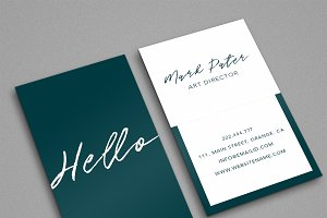 Professional hello script card
