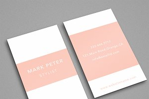 Simple elegant pinkish card