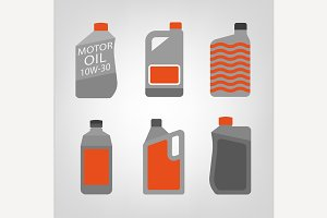 Synthetic Oil Icons