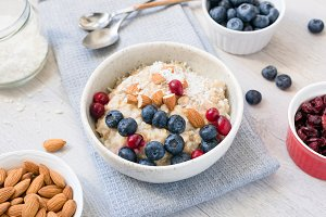 Oatmeal porridge bowl