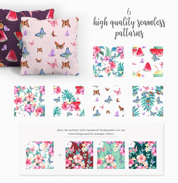 Hibiscus Watercolor Clip Art Set in Illustrations - product preview 5