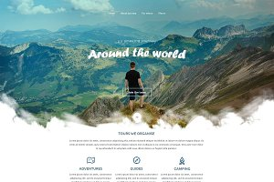 Around the World - PSD Template
