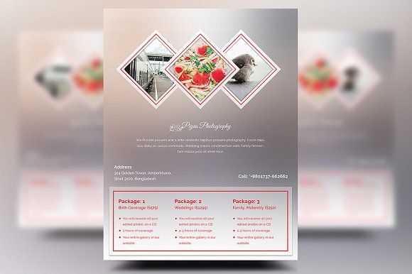 photography pricing flyers flyer templates creative market